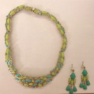 Banana Republic necklace, matching earrings set